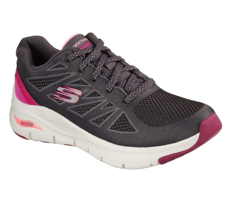 Skechers Arch Fit - She's Effortless, CHARCOAL/PINK, largeimage number 0